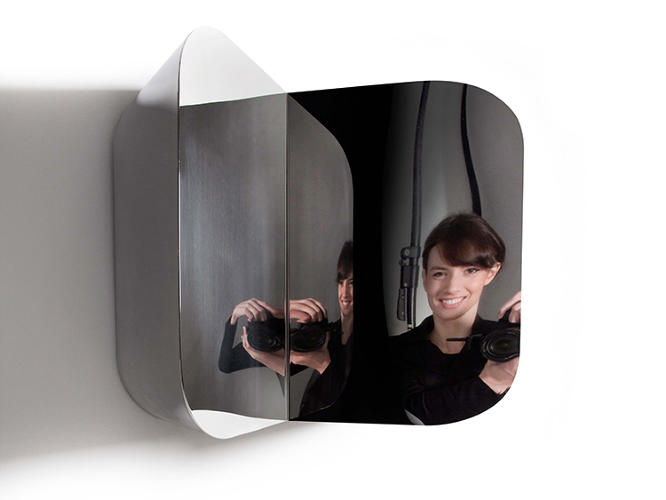 <p>Toni Grilo was also the designer behind Haymann Editions' inaugural 2012 collection which featured a series of mirrors called Cutting Space, with symmetrical volumes that are the result of removing pieces from the overall form to create reflections in two directions.</p>