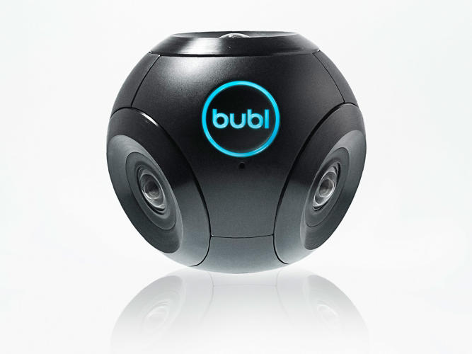 <p>Roughly the size of a baseball, the Bublcam is capable of shooting panoramic photos and 360-degree videos.</p>
