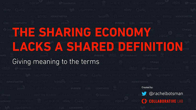 <p>&quot;Sharing economy,&quot; &quot;peer economy,&quot; &quot;collaborative economy,&quot; and &quot;collaborative consumption.&quot; <a href=&quot;http://www.fastcoexist.com/3022028/the-sharing-economy-lacks-a-shared-definition&quot; target=&quot;_self&quot;>What does it all mean? </a>Collaboration thinking pioneer Rachel Botsman breaks it down.</p>