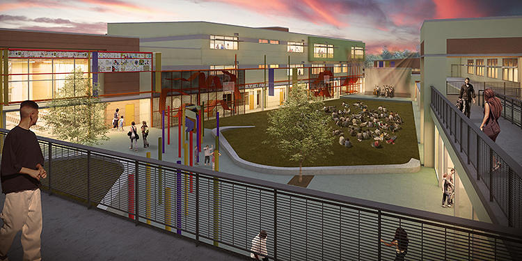 <p>In Emeryville, California, <a href=&quot;http://www.fastcoexist.com/1682549/this-is-what-it-looks-like-when-a-school-becomes-a-community-hub&quot; target=&quot;_self&quot;>an enormous new school building</a> will house the K-12 school, but also serve as a place for the entire community to gather and learn.</p>