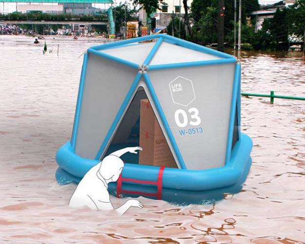 <p>The LIfeBox is an inflatable contraption that could save lives after a disaster.</p>