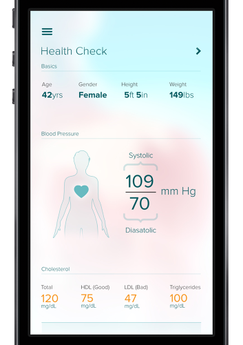 <p>AskMD's highly personalized approach to determining possible causes includes information about you, like your blood pressure and cholesterol levels, which you're responsible for providing.</p>