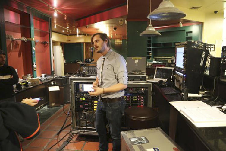 <p>Nick Tipp was one of the audio engineers behind the scenes monitoring the complex sound mixing and distribution during the performances.</p>