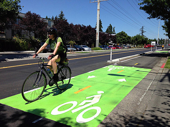 <p>American's best bike lanes have something many others don't: real protection for cyclists.</p>