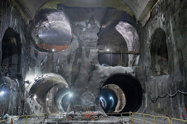 <p>How do the subways that lie beneath our cities get dug out? By massive 200-ton drills so big and unwieldy that it's cheaper to bury them beneath the ground after a subway has been finished then dig them back up again. Learn more about the incredibly cool and unbelievably weird construction of subways <a href=&quot;http://www.fastcodesign.com/1671944/an-unbelievable-glimpse-of-the-tunnels-in-progress-beneath-new-york-city&quot; target=&quot;_self&quot;>here</a>.</p>
