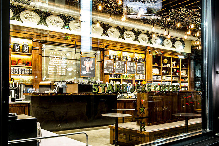<p>To bring that to life, they built floor-to-ceiling shelves behind the counter.</p>