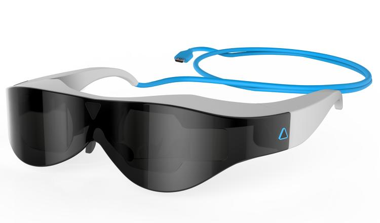 <p>Atheer's augmented-reality glasses can be used by factory workers to manage inventory or gamers to play immersive first-person shooters.</p>