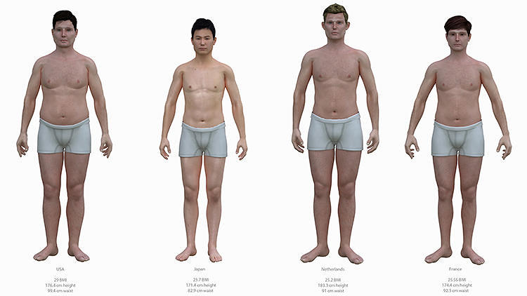 <p>Nothing says you've got a few pounds to lose like looking in the mirror. <a href=&quot;http://www.fastcoexist.com/3019154/visualized/shirtless-americans-next-to-people-from-skinnier-countries-show-how-fat-we-are&quot; target=&quot;_self&quot;>Here, an artist holds up a mirror to America's expanding waist line.<br /> </a></p>