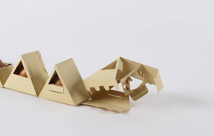 <p>Even more clever, the whole design is made of one continuous piece of cardboard, thanks to some ingenious origami.</p>