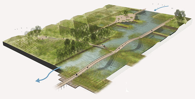 <p>A winning design: A network of protective wetlands could save Tokyo from floods.</p>