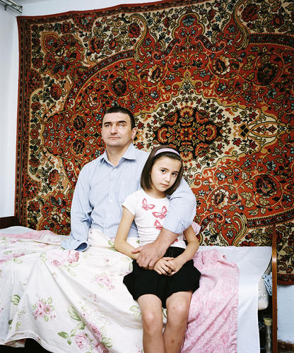 <p>The site also explores what life is like for today's Sochi residents. Here, a former policeman from Karabulak, Russia, who threw himself on a grenade.</p>