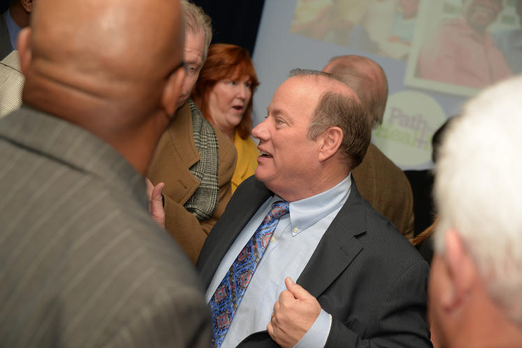 <p>Mayor Mike Duggan is hoping to save Detroit, which is still going through municipal bankruptcy. <em>Read more: <a href=&quot;http://www.fastcoexist.com/3026394/how-detroits-new-mayor-hopes-to-create-a-great-american-revival&quot; target=&quot;_self&quot;>How Detroit's New Mayor Hopes To Create A Giant American Revival</a></em></p>