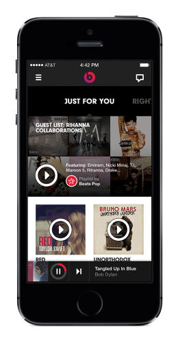 <p>Just For You surfaces album and playlist recommendations based on users' music tastes.</p>