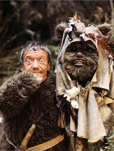 <p>Kenny Baker also played one of the Ewoks.</p>