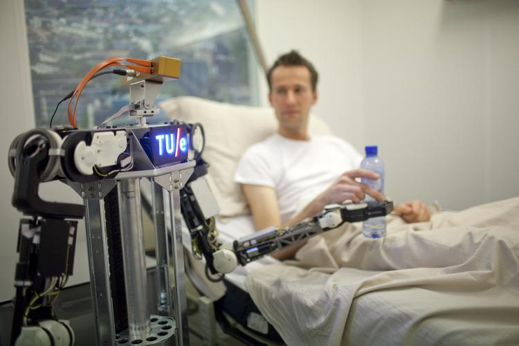 <p>Robots can now serve us drinks in bed. First our caretakers? Next, our overlords?</p>
