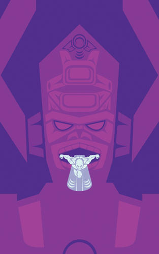 <p>Silver Surfer and Galactus</p>