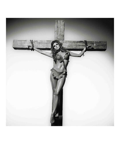 <p>Raquel Welch, 1968. &quot;She said to me, I'm going to get crucified for wearing that bikini in <em>One Million Years BC</em>, so I went to 20th Century Fox, and I said If you can build me a crucifix, I got this idea for a picture. Anyway, we did the photograph, but this was the late '60s and I got nervous--being a Catholic I kept thinking how everyone's going to misinterpret this, so I've only just released it, about three years ago. I've no doubt some people will still object to it but its not meant to be sacrilegious, just to sum up someone's attitude,&quot; O'Neill told the <em><a href=&quot;http://www.telegraph.co.uk/culture/photography/10569295/The-best-of-Terry-ONeill.html?frame=2789564&quot; target=&quot;_blank&quot;>Telegraph</a></em>.</p>