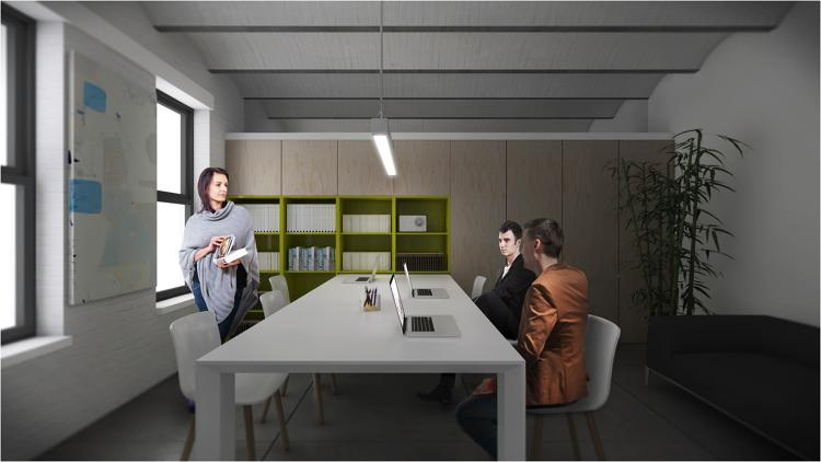 "<p>With all five available leafs, the table expands to 115"" deep, easily seating ten for team meetings.</p>"