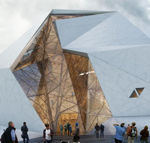 <p>Tehran-based <a href=&quot;http://www.newwavearchitecture.com/main.htm&quot; target=&quot;_blank&quot;>New Wave Architecture</a> is building a rock climbing gym in Polur, Iran, that in itself resembles a huge boulder.</p>