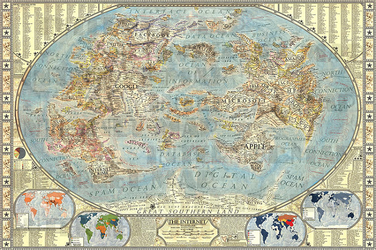 <p>An amazingly detailed feat of imaginative cartography shows how to surf the Web.</p>