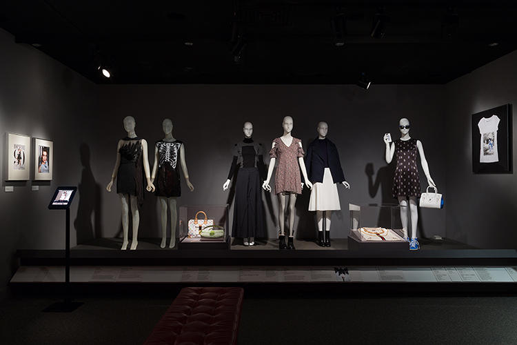 <p>Fast Fashion: Nowadays, a given season's runway styles trickle down and influence chain stores' mass-manufactured, affordable lines, sometimes with couture designers on board. Seen here, a Rodarte evening dress, juxtaposed with Rodarte for Target (left); Maison Martin Margiela for H &amp; M, sweater and skirt; Topshop (Kate Moss), dress.</p>