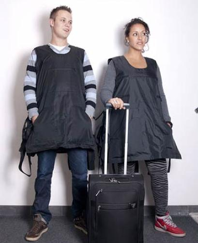 <p>Want to avoid airline fees? If you stand to look a little ridiculous, try wearable baggage.</p>