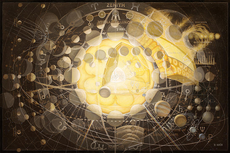 <p>These 25 collages explore an area of knowledge in detail, from anatomy to the solar system.</p>