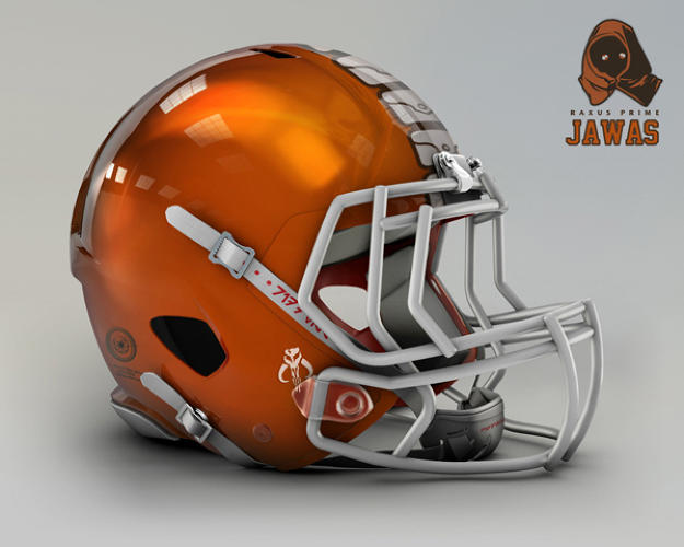 <p>Cleveland Browns. Raxus Prime, Jawas.</p>