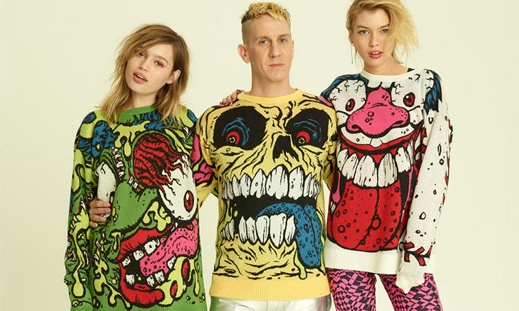 <p>Scott collaborated with Madballs on the fashion project. &quot;It was such a childhood icon of mine, I was so happy when they came to me and said they were interested in working together,&quot; Scott <a href=&quot;http://www.dailymail.co.uk/femail/article-2558123/From-fuzzy-jerseys-giant-tube-socks-worn-dresses-Jeremy-Scotts-fashion-week-ode-athleticism-falls-short-rebellious-spirit.html&quot; target=&quot;_blank&quot;>told the <em>Daily Mail</em>.</a></p>