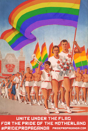 <p>Retro visions of a communist utopia are converted into visions of a world free of homophobia.</p>