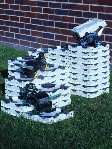 <p>Each TERMES robot is programmed with a set of &quot;traffic laws&quot; that tell the builder what to do based on its environment--cues from other robots, for example, or where certain blocks are placed.</p>