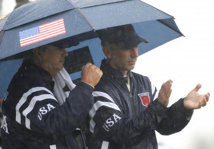 <p>Thanks to some fancy but leaky raincoats, the American golf team got drenched at the 2010 Ryder Cup in Wales. Lisa Pavin, wife of team captain Corey Pavin, insisted on embroidering names on the backs of the jackets in addition to stripes on the pants and sleeves. But embroidering meant poking thousands of tiny holes in the fabric, making them leak like colanders.</p>