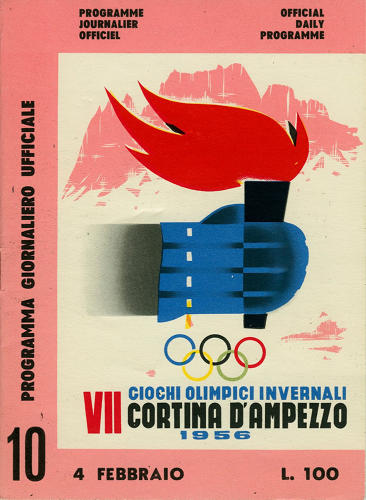 <p>1956 Winter Olympics – VII Olympic Winter Games – Cortina d'Ampezzo, Italy</p>