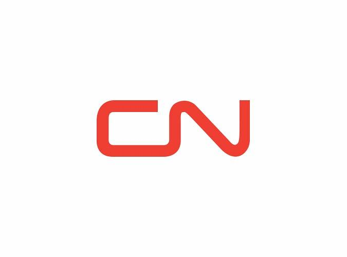 <p>The logo for the Canadian National Railway Company, which remains unchanged today.</p>