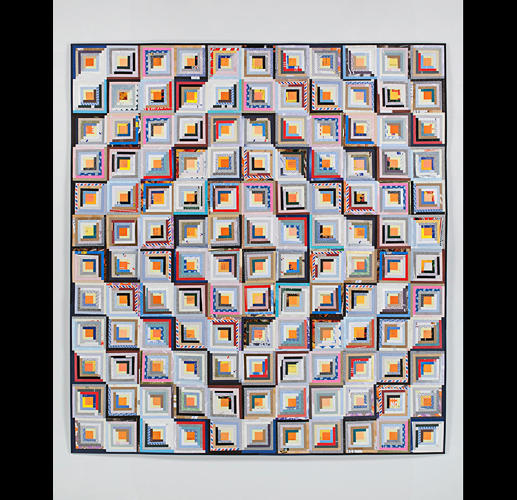 <p>Artist <a href=&quot;http://stephensollins.com/&quot; target=&quot;_blank&quot;>Stephen Sollins</a>'s quilts are made entirely from mail he's received and saved.</p>
