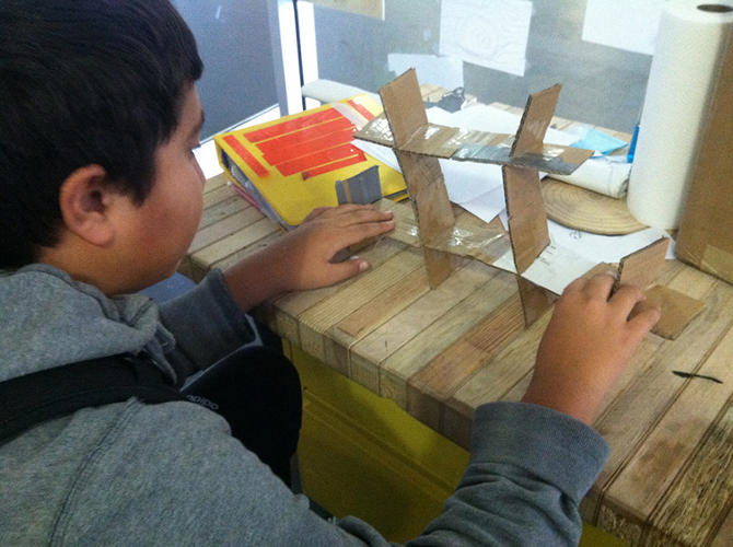 <p>Eighth graders at the Realm Charter School didn't have a library, so they designed one.</p>