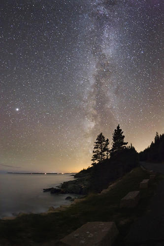 <p>Acadia National Park has some of the darkest skies on the eastern seaboard.</p>