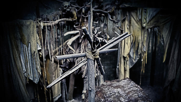 <p>&quot;The star that hangs over the sacrificial rock is made from burnt driftwood, a nod to the killer's charcoal art.&quot;</p>