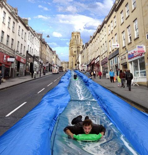 <p>Park Street has been used for events like this before, including a Red Bull soapbox derby.</p>