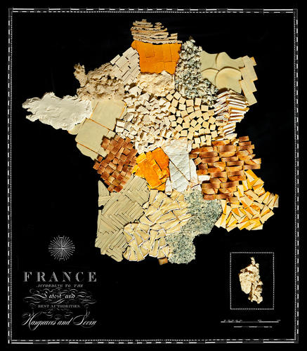 <p>France, of course, is rendered in various Camembert and Compte cheeses.</p>