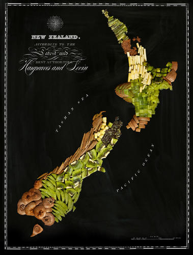 <p>By and large, the maps adhere to familiar stereotypes about who eats what and where. To wit: New Zealand is all kiwis.</p>