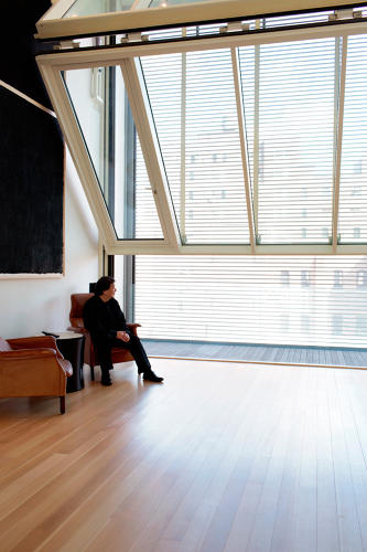 <p>While visiting the Metal Shutter Houses, he points out a small crack in a baseboard. &quot;When you design a building, it's like a child,&quot; he says. &quot;You have to take care of it.&quot;</p>