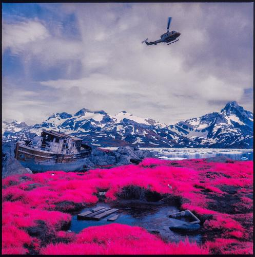 <p>Now discontinued, Aerochrome was originally developed for the military to help them detect camouflage from helicopters: It responds the chlorophyll in plants and reverses green colors into lavenders and magentas and browns into deep blues.</p>