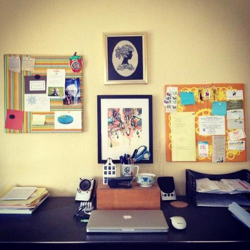 <p>&quot;My warm, simple home office for writing and scheming,&quot; says Anna Raddatz.</p>