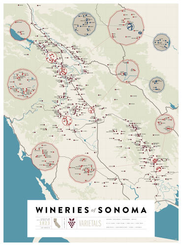 <p>The infographic gurus over at Pop Chart Lab have applied their trademark charm to northern California's wine country.</p>