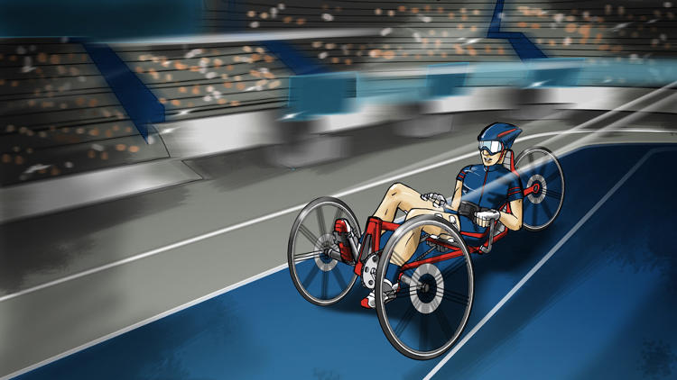 <p>The &quot;functional electrical stimulation bike race&quot; is designed for competitors with spinal cord injuries.</p>