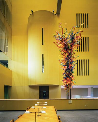<p>The Dale Chihuly sculpture, in the Main Library in San Antonio Public Library, Texas</p>