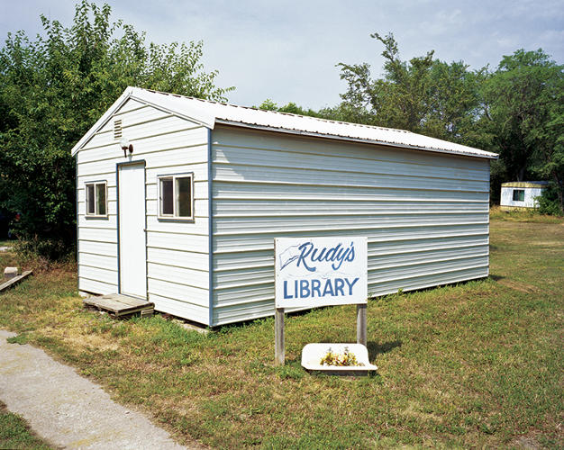 <p>Rudy's Library, in Nebraska, serves a county inhabited by one woman who built this library as a memorial to her late husband, Rudy.</p>