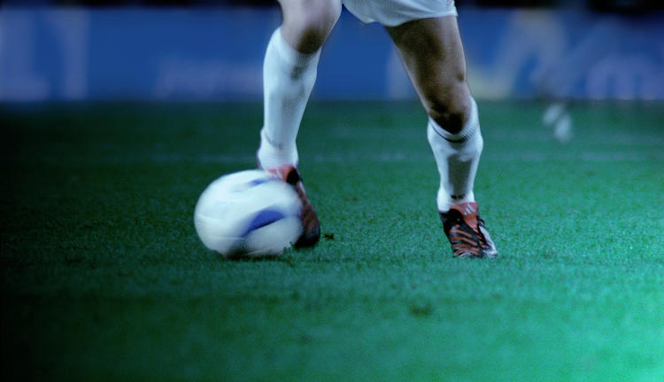 <p>Video takes a close look at the game, including this still of a ball in motion, from the perspective of European superstar Zinedine Zidane.<br /> Philippe Parreno and Douglas Gordon</p>