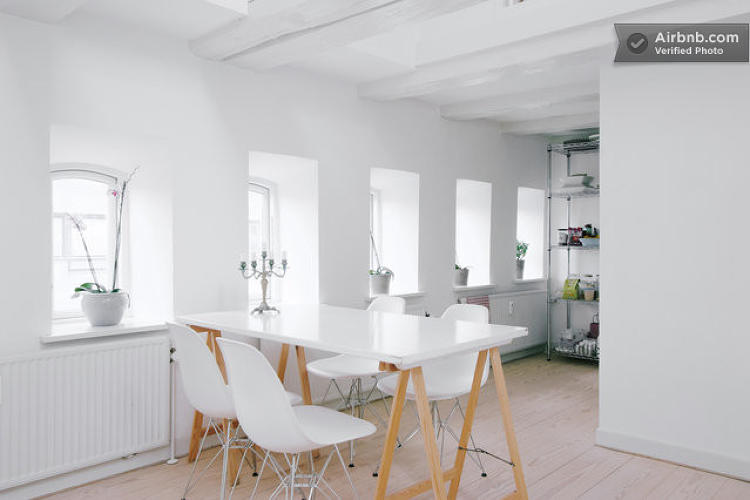 <p>Is there anything more Scandinavian than a <a href=&quot;https://www.airbnb.com/rooms/1136960&quot; target=&quot;_blank&quot;>spotless white house</a>? This Copenhagen loft also comes with two bicycles because of course it does.</p>